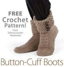 Free Crochet Slipper Patterns Simple Fancy Crochet Slipper Boots Free Pattern And Tutorial DIY
