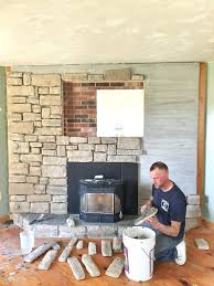 gallery pictures for painted stone fireplace