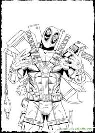 Small Picture deadpool coloring pages Google Search Silhouette machine