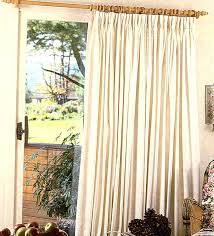 single panel door curtain endearing patio door curtains pinch pleat decorating with fireside insulated pinch pleated