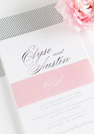Black White And Pink Wedding Invitations Calligraphy In