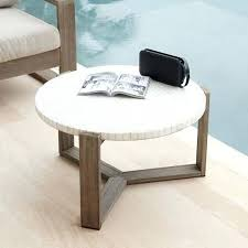 marble and wood coffee table mosaic tiled outdoor coffee table white marble weathered wood nicholas marble