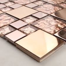 metal tile backsplash bathroom copper stainless steel and glass mosaic kitchen wall decor hd 280