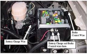 2011 chevrolet 2500 hd travel trailer owners manual hood Travel Trailer Fuse Box Location the battery charge wire and the power wire to the brake control have different size eyelets on them and will connect to the threaded studs under the gray prowler travel trailer 1995 fuse box location
