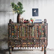 Image Furniture Flea Vintage Indian Large Mirrorwork Sideboard City Home Furniture Buy Original Antique Furniture Online Small Acorns