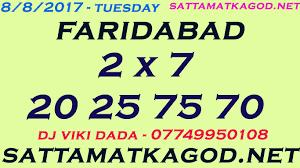 Faridabad Ka Chart 8 8 2017 Faridabad Satta King Jodi Dhamaka Tips Winning