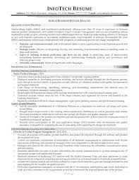 Business Systems Analyst Resume Senior Business System Analyst