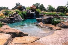 beach entry swimming pool designs. Zero Entry Sand Beach To Natural Design Pool. Swimming Pool Designs