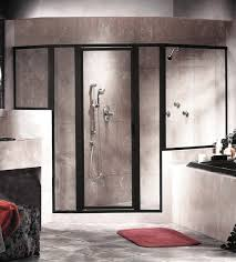 black frame shower door stunning doors bathroom enclosures interesting home ideas 41