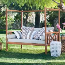 Belham Living Brighton Outdoor Daybed and Ottoman - Natural | Hayneedle