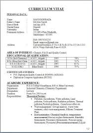 Sample Resume For Microbiologist Best of Resume Format Microbiology Microbiology Fresher Resume In Doc