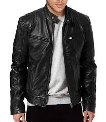 black faux leather jacket for men winter