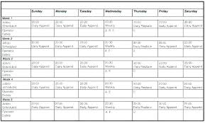 daily work schedule templates employee daily work schedule template
