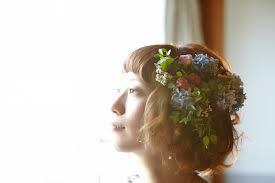 短め髪でも華やかにショートボブヘアのとびきり可愛い花嫁ヘア