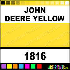 John Deere Yellow Farm And Implement Spray Paints 1816