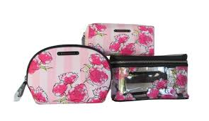 inspiring makeup bag set victoria secret mugeek vidalondon toiletry msia s limited edition pink fl cosmetic