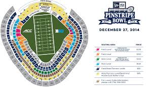 Yankee Stadium Seating Chart Pinstripe Bowl Pinstripe Bowl Tickets What They Cost And Where To Buy Them