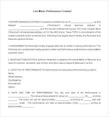 Music Contract Templates Video Production Contract Template Word ...