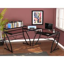 z line feliz glass l shaped desk black