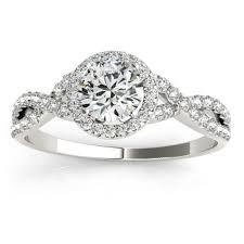 infinity wedding rings. twisted infinity engagement ring bridal set 14k white gold 0.27ct wedding rings