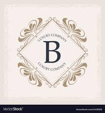 Swirl Design Co Luxury Company B Monogram Swirl Decoration