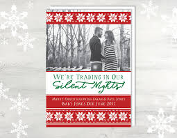 Christmas Baby Announcement Card With Photo Baby
