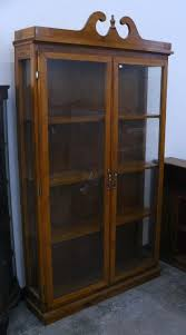 large vintage wooden wall cabinet w