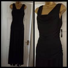 Nightway Black Ruched Maxi Dress Size Uk 10 Bnwt Fashion