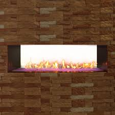 white mountain hearth by empire rose 48 inch vent free propane gas outdoor linear see through fireplace w manual electronic ignition led light