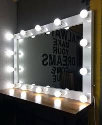 makeup mirror lighting. Mirror Makeup With Lights White Vanity Artist Standing Lighting N