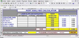 Download Free Excel Pert Chart Templates For Project