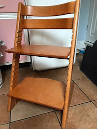 stokke tripp trapp chair high chair in cherry wood