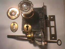 antique restoration hardware glass door knob sets lock set 1