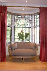 window image result for how to hang curtains around bay