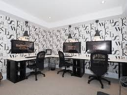 office wallpaper ideas. ikea home office ideas transitional with gray flooring letter wallpaper black trash can