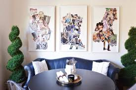 diy collage wall art