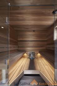 sun sauna relax laudemallisto seinäjoen asuntomessut lasiseinä led nauha lauteen alla