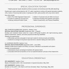 listing education on resume examples special education teacher resume example