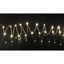 60 light warm white led battery operated string light
