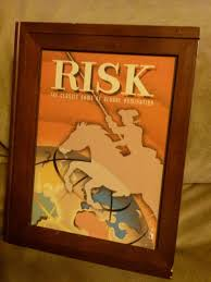 Risk Board Game Wooden Box Risk Vintage Game Collection Bookshelf Wood Box Parker Brothers 1