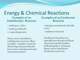 energy chemical reactions