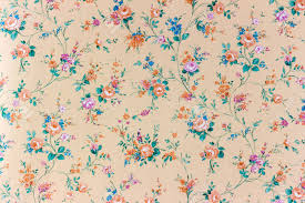 Flower Pattern Wallpaper Gorgeous An Old Retro Wallpaper With A Flower Pattern Stock Photo Picture