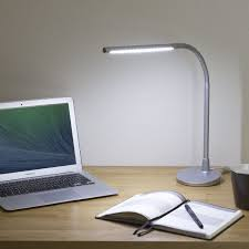 satechi flexible led desk lamp with usb silver office