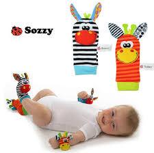 SOZZY TOP <b>2pcs</b>/set Wrist 15*3.5cm Rattle Foot Socks 14*6.5cm ...