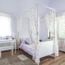 Poster Bedroom Furniture Childrens Four Poster Bed White Georgia