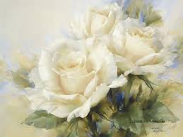 beautiful white flower painting image