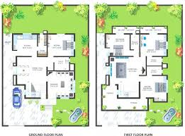 uncategorized ground floor and first floor plan incredible in stylish two story house plans indian style small y narrow lot floor in ground floor and