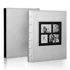 Silver Photo Albums Amazon Com Parah Life Luxury Photo Album For Wedding Anniversary