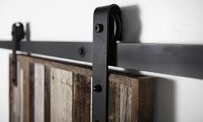 image of sliding barn door hardware details
