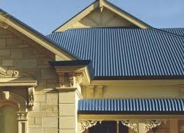 that the older galvanized panel and also can be ordered with a weather resistant paint finish like the blue corrugated roof in the photo below